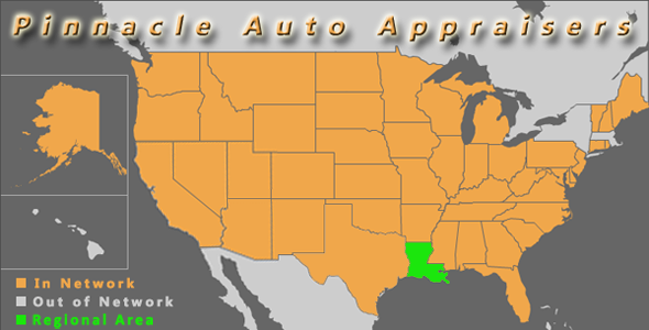 map louisiana pinnacle auto appraisal appraiser diminished value inspection